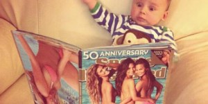 This is how one baby reacted to the SI Swimsuit edition