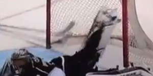 Jonathan Quick makes outrageous save of the year candidate from his stomach