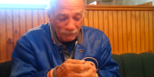 Old guy has awesome reaction to news he's going to be a grandpa