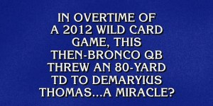 You'll never guess which athlete performs miracles, according to 'Jeopardy'