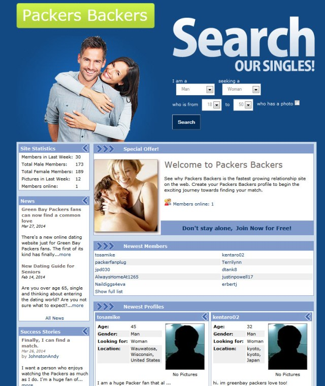 Packers dating website