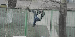 This drunk guy scaling a fence is a perfect metaphor for life