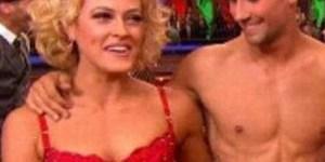 Erin Andrews goes full-on bug-eyed in the presence of Peta Murgatroyd in lingerie