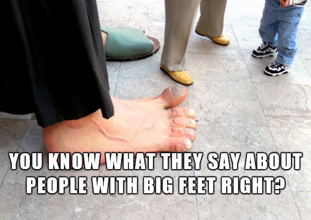 big foot penis