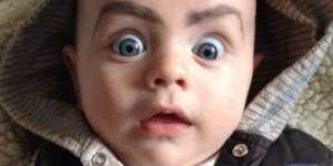 Drawing eyebrows on babies is hilariously terrifying and a reason to have kids