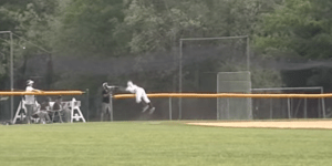 High School Baseball Player Risks Life for Foul Ball, Makes Catch