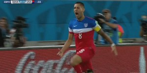 Clint Dempsey scores 30 seconds into the game to give USA a 1-0 lead