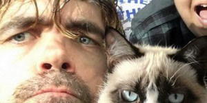 Peter Dinklage and his feline twin Grumpy Cat took one of the best selfies ever