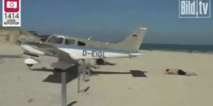 Low-Flying Plane Lands Insanely Close to Sunbathing German Dude in Terrifying Video