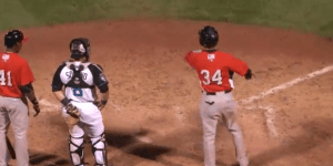 Minor League Baseball Player Loses Mind After Being Ejected, Slides into Home