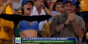 Ecstatic French Rugby Fan Celebrates Try By Flashing the Camera