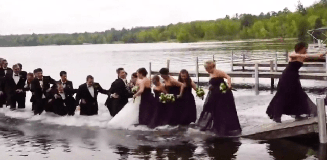 wedding-party-dock-fall