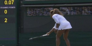 Bizarre, bizarre scene at Wimbledon as a confused Serena Williams retires from doubles match