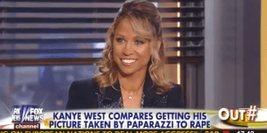 Kanye West Compared Being Photographed to Rape, Fox News' Stacey Dash Thinks He Needs to Experience Prison Rape