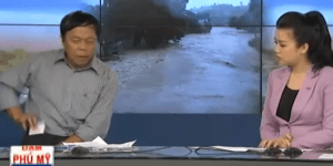 Newscaster does what everyone should do when their cell rings at wrong time
