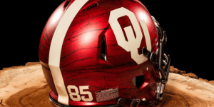 Oklahoma Has Some Crazy New Wood-Themed Helmets