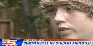 Teen arrested for writing about killing a dinosaur with a gun for school assignment