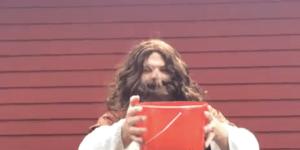 Here's Jesus taking the ice bucket challenge
