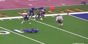 Texas High School Wide Receiver Makes Simply The Luckiest Touchdown Catch You'll See