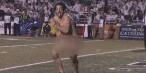 Completely Naked Streaker Runs For Touchdown, Spikes Ball During Old Dominion Game