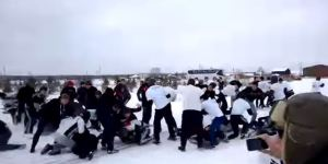 This Russian Soccer Fan Brawl Is Hilariously Large