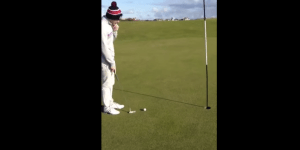 Bro Sinks The Most Insane Tap-In Birdie Putt You'll Ever See
