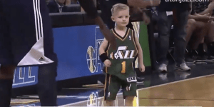 The Utah Jazz Sign 5-Year-Old With Leukemia To 1-Day Contract, He Proceeds To Dunk