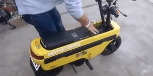 Driver Wanted For World's Smallest Motorbike, Only Bro's With Biggest Of Dicks Apply