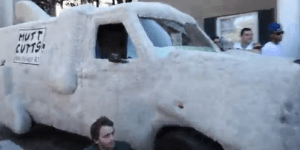 Two Bros Took The 'Dumb and Dumber' Shaggin' Wagon To A FSU Frat House To Tailgate