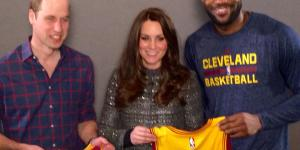 Sweaty LeBron James Put His Arm Around Kate Middleton Which Is A Total No-No