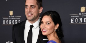 Aaron Rodgers Couldn't Keep His Hands Off Olivia Munn's Ass At The NFL Honors
