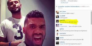 Russell Wilson Posts Picture Of New Haircut, Comments Do Not Stay On Topic