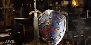 Watch And Learn How To Make A Real-Life Replica Of The Shield From 'Zelda,' Then Cry Because It's So Damn Complicated