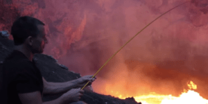 You'll Never Be As Chill As This Bro Roasting Marshmallows Over A Live Volcano
