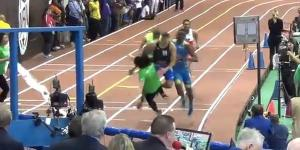 WHAM SAUCED! High School Runner Absolutely Obliterates An Unsuspecting Girl Standing At The Finish Line