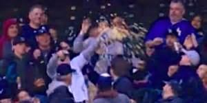 Mariners Fan Catches Foul Ball With Popcorn Tub, Makes Quite A Buttery Mess