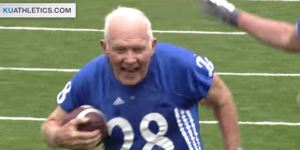 An 89-Year-Old Scored A Touchdown In Kansas' Alumni Football Game And The Defense Was Suspect