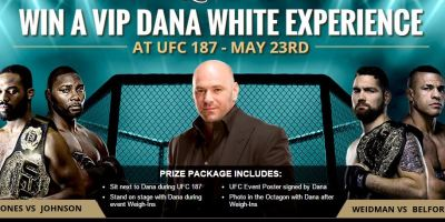 Sit Next To Dana White At UFC 187 And Make All Your Friends Hate You