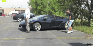 Guys Try To Prank A Lambo Driver Who Cut Them Off In Traffic, Wind Up Getting Beat DOWN By The Old Man Instead