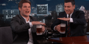 Workaholics' Adam DeVine Accidentally Called In Drunk To Work, Pounds Beer With Jimmy Kimmel