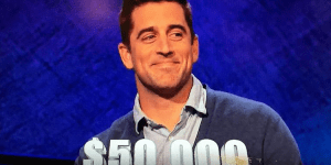 Aaron Rodgers Won A Crapload Of Money For Charity On Jeopardy And Trebek Celebrated With A Discount Double Check