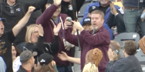 Fan Miraculously Catches Flying Baseball Bat With One Hand, Doesn't Spill One Drop Of His Beer