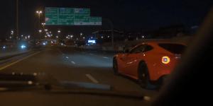 Idiot Crashes His $323,000 Ferrari In Dubai Street Race Against GT-R