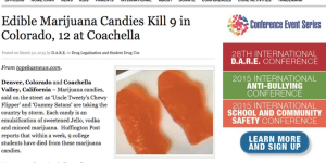 D.A.R.E. Goes ALL-IN Reporting Fake Deaths From Marijuana Edibles, Blaming Liberal Obama