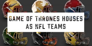 What If 'Game Of Thrones' Houses Were NFL Teams? NFL Helmets With GoT House Sigils
