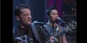 Speaking Of Musical Performances On Letterman, Here's O.A.R.'s First, From August Of 2003
