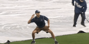 San Diego Padres Groundskeeper Danced So Hard During Rain Delay You'd Swear It Was His Last Day On Earth