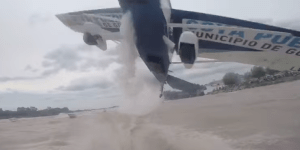 Bros Fishing On A Lake Capture Insane Footage When A Plane Nearly Crashes Into Them Out Of Nowhere