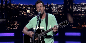 Adam Sandler Said Something Really Gross About His Mom While Singing A Goodbye Song To David Letterman