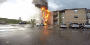 Remarkable Moment Guys Testing GoPro Cams Bust Down Doors To Save Pets During Apartment Fire